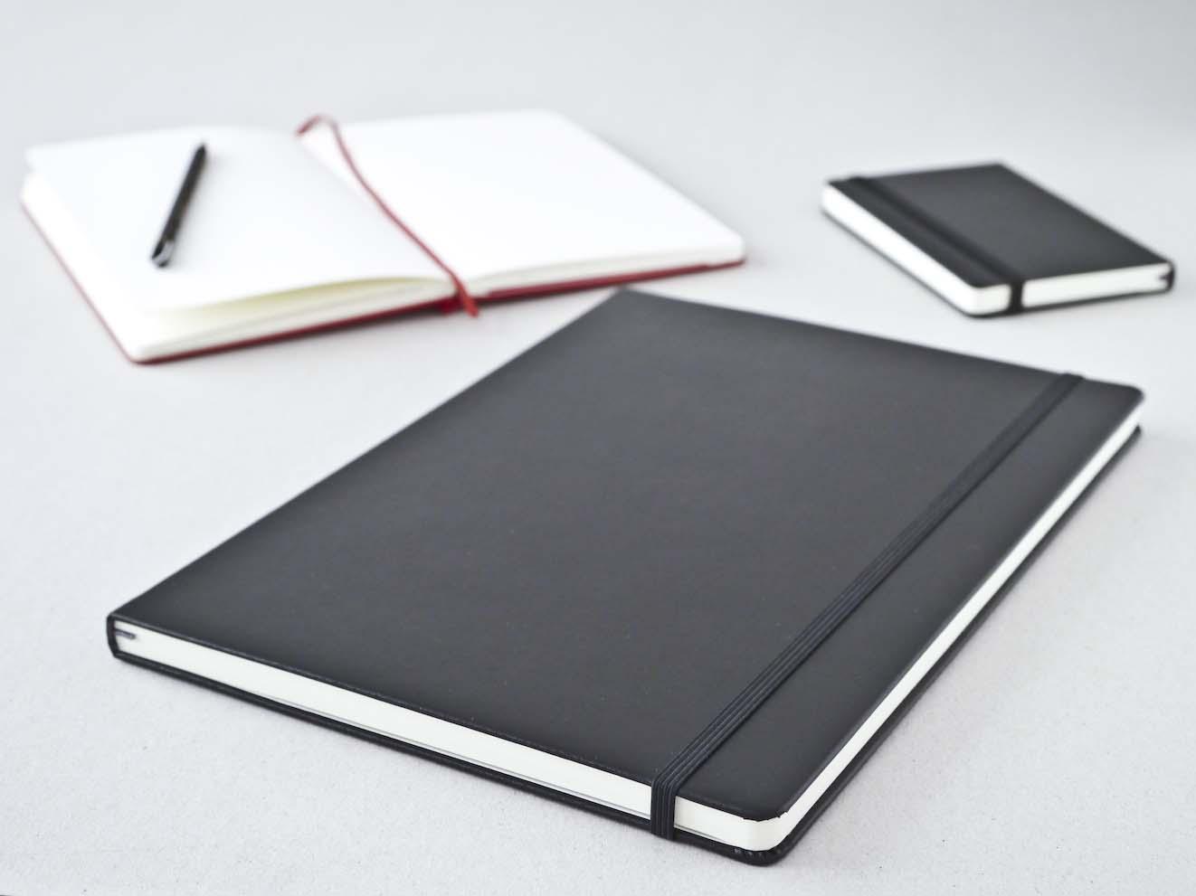 Moleskine Skitsebog i tre varianter pocket, large og A4