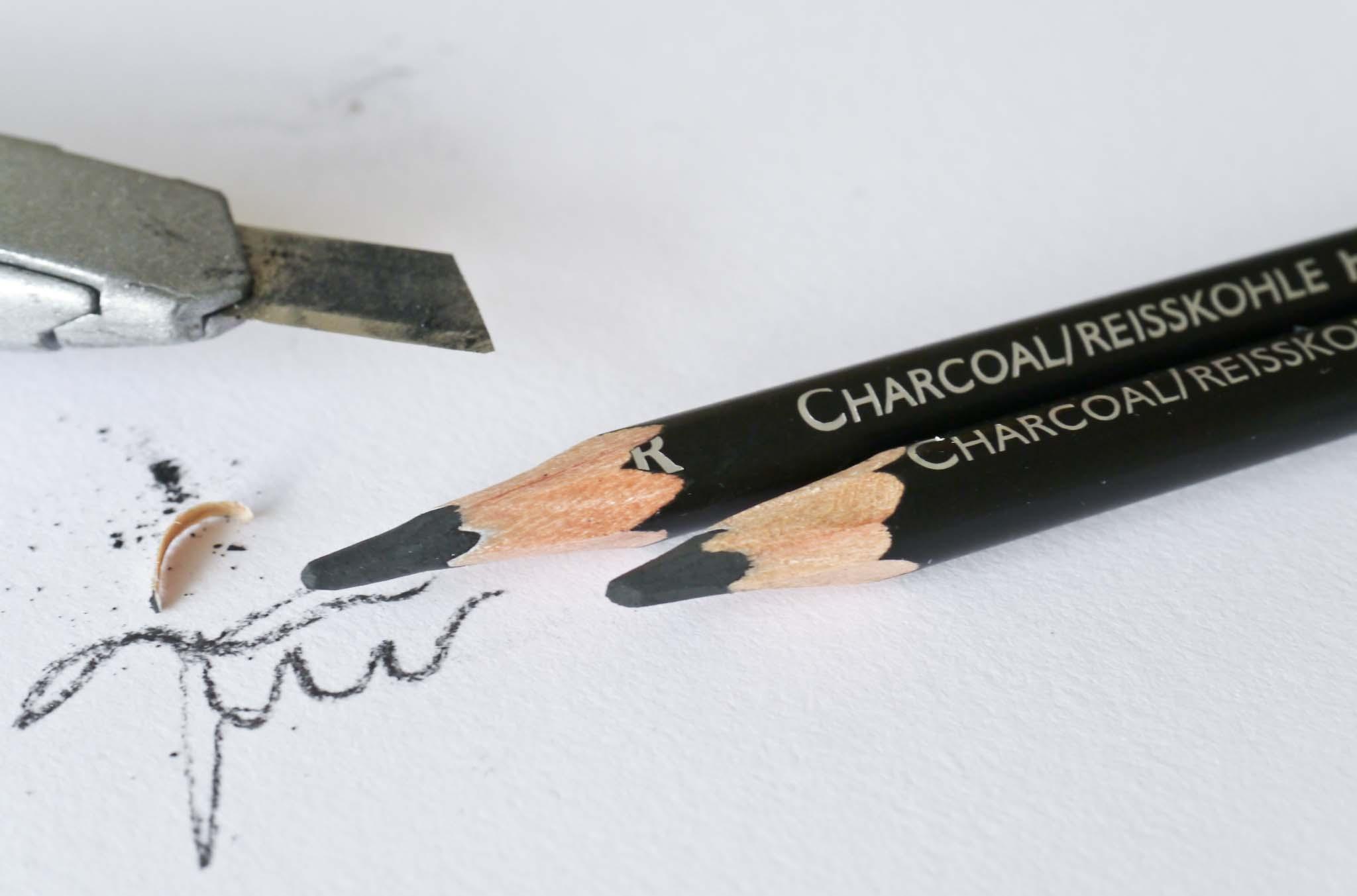 Cretacolor Charcoal pencils spidsning