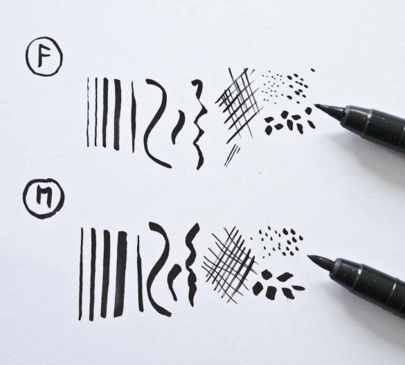 ZIG Mangaka Flexible linjer og mærker