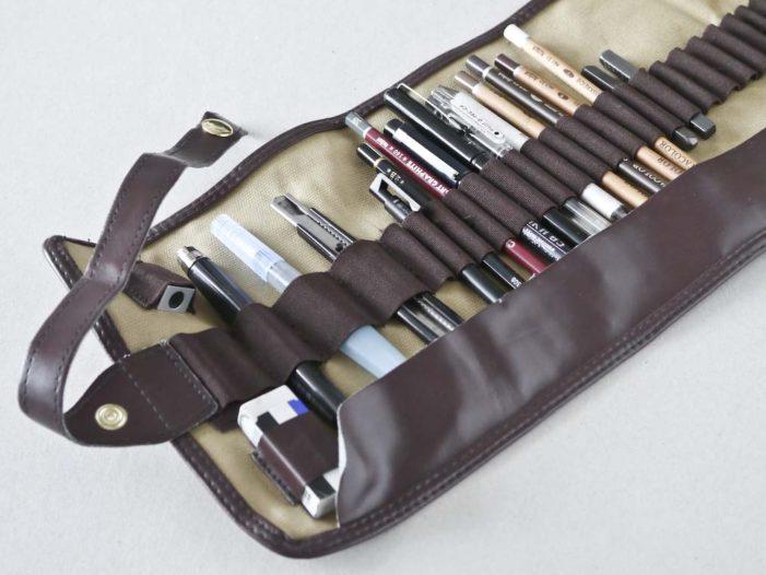 Derwent Pencil Wrap med tegneredskaber