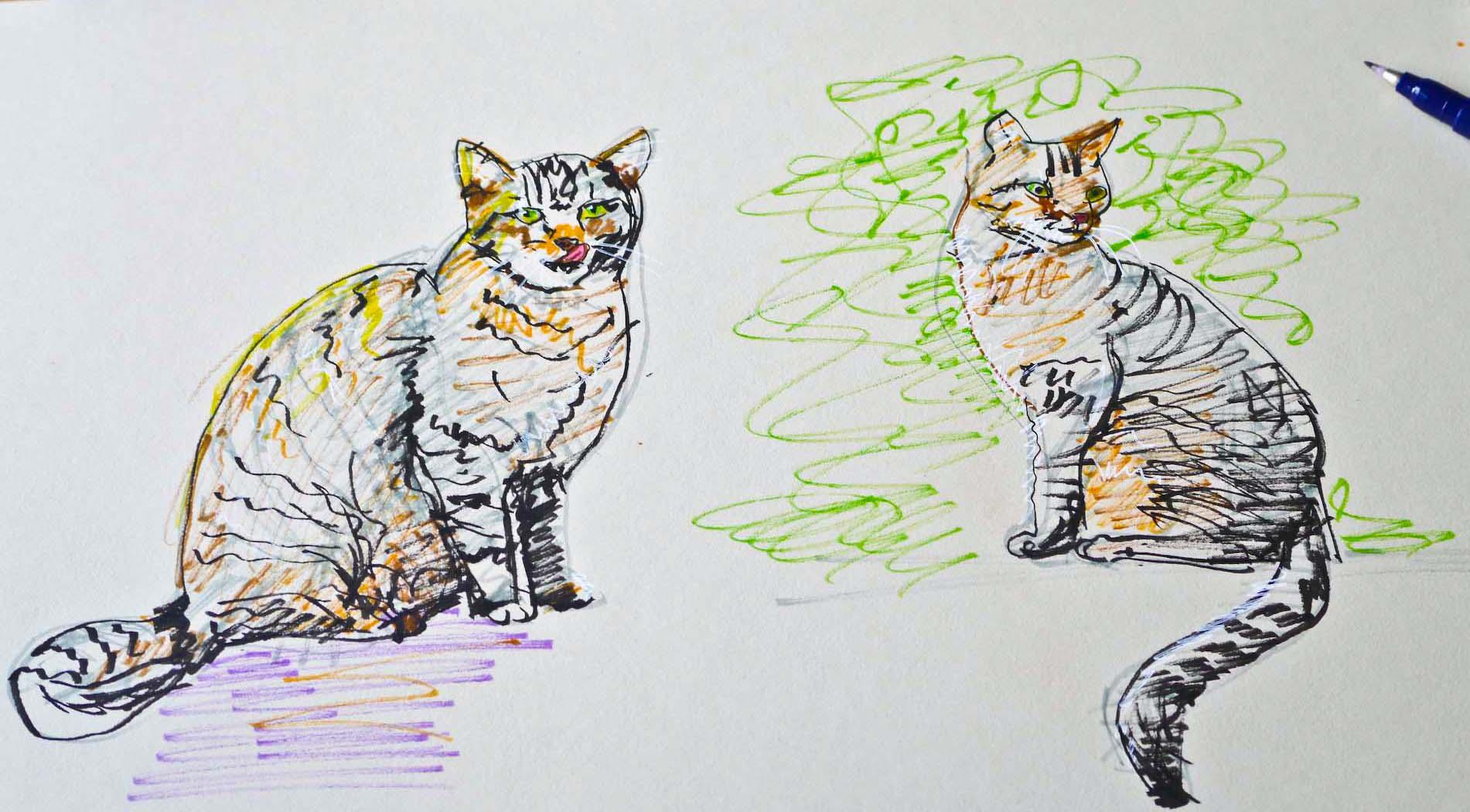 Tombow Fudenosuke demo katt