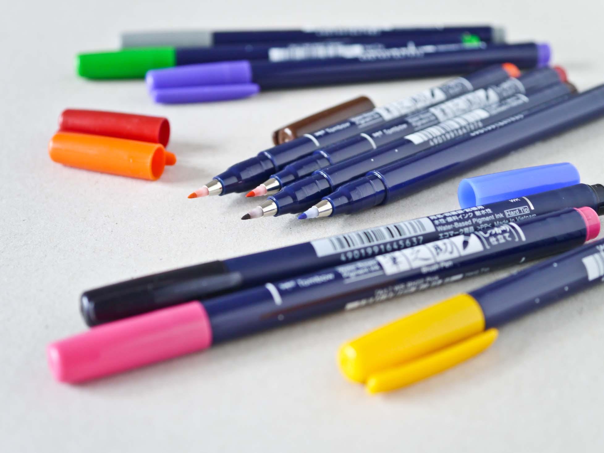 Tombow Fudenosuke farvede penne