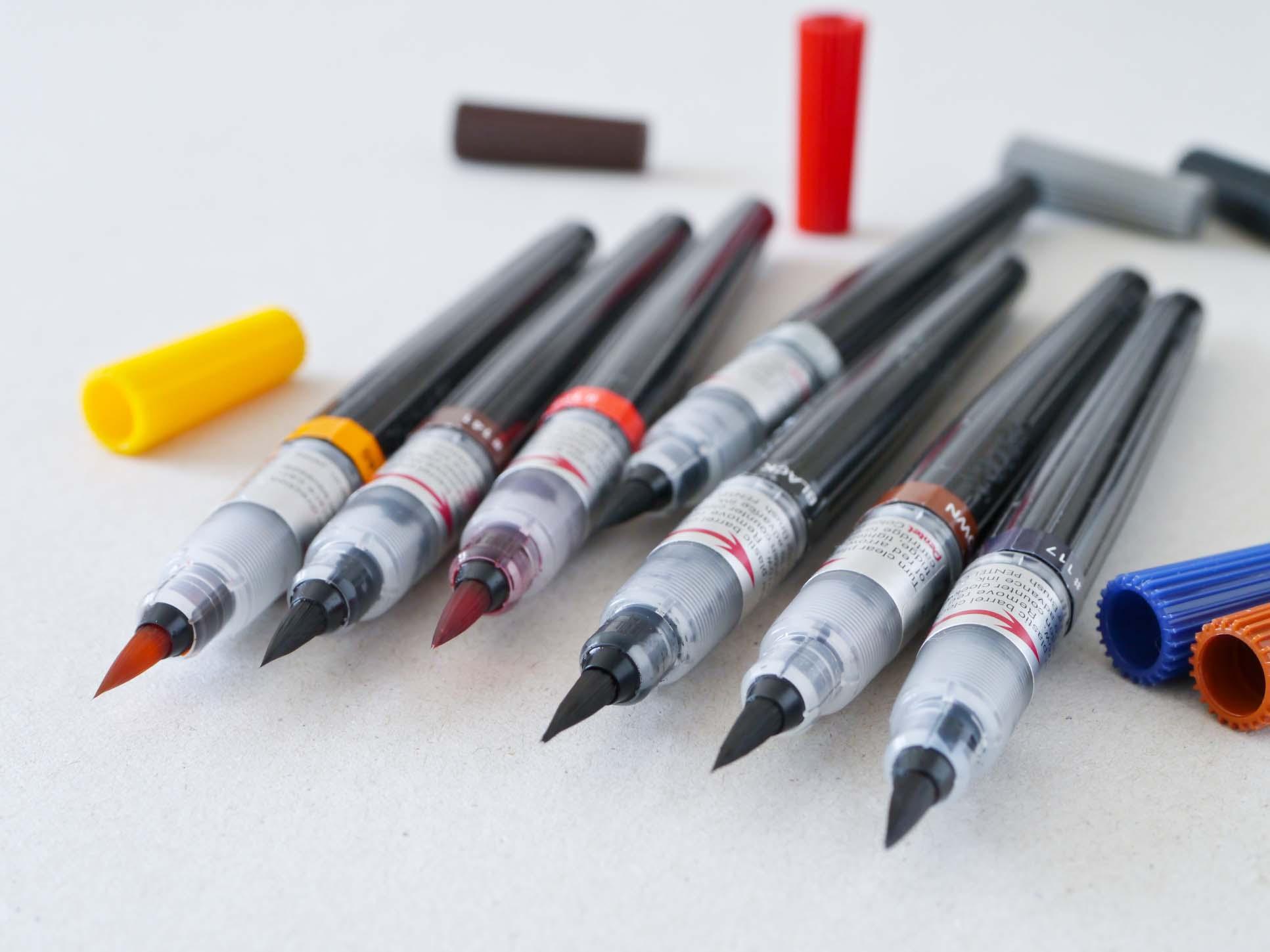 Pentel Color Brush 6 farver 2